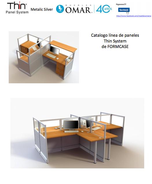 Catálogo de Estaciones modulares Formcase, Metalic Silver